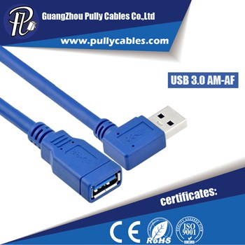 RIGHT ANGLE USB 3.0 AM TO AF CABLE